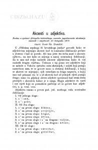 Akcenti u adjektiva / Đ. Daničić
