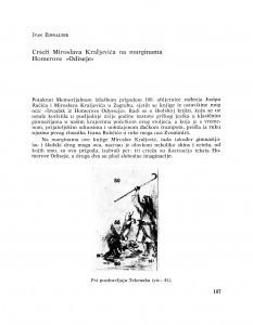 Crteži Miroslava Kraljevića na marginama Homerove