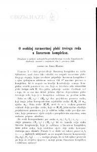 O osobitoj ravnocrtnoj plohi trećega reda u linearnom kompleksu / J. Majcen