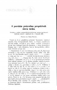 O posrednim proizvodima perspektivnih nizova tačaka / J. Majcen