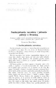 Pontsko-jadranska razvodnica i jadransko područje u Hrvatskoj / M. Šenoa