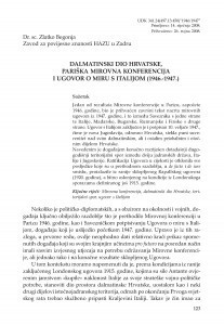 Dalmatinski dio Hrvatske, Pariška mirovna konferencija i Ugovor o miru s Italijom (1946.-1947.) / Zlatko Begonja