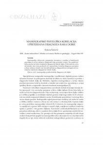 Mamografsko-patološka korelacija i pretjerana dijagnoza raka dojke / Božena Šarčević