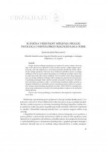 Klinička vrijednost mišljenja drugog patologa o histološkoj dijagnozi raka dojke / Jasminka Jakić-Razumović