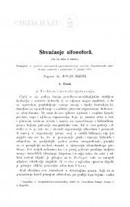 Shvaćanje sifonoforâ / J. Hadži