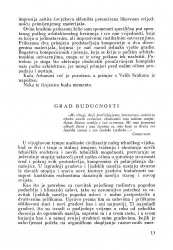 Grad budućnosti ; Corbusierov mali rječnik / Lj. B.