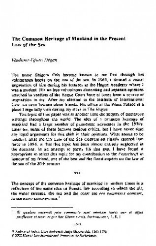 The Common Heritage of Mankind in the Present Law of the Sea / Vladimir-Djuro Degan