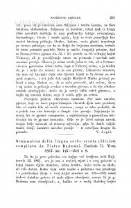 Grammatica della lingua serbo-croata (illirica) compilata da Pietro Budmani. Fasciclo II. Viena 1867 : [književna obznana] / Đ. Daničić