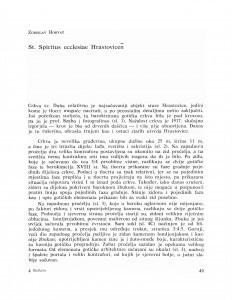 St. Spiritus ecclesiae Hrastovicen / Zorislav Horvat