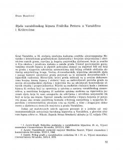 Djela varaždinskog kipara Fridrika Pettera u Varaždinu i Križevcima / Doris Baričević
