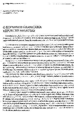 O kopnenim granicama Republike Hrvatske / Vladimir-Đuro Degan