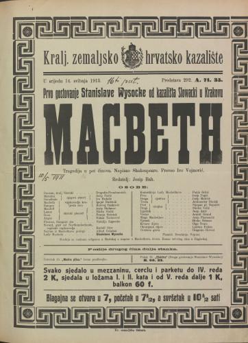 Macbeth : Tragedija u pet činova