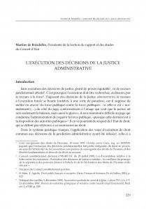 L'exécution des décisions de la justice administrative : [rasprava]