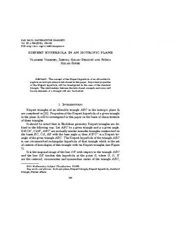 Kiepert hyperbola in an isotropic plane