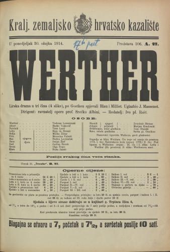 Werther Lirska drama u tri čina (4 slike)