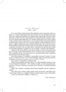 Janez Brglez (1927.-2011.) : [nekrolog] / Teodor Wikerhauser