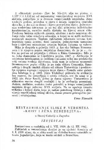 Restauriranje slike P. Veronesa