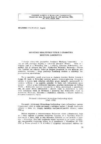 Hrvatsko kraljevsko vijeće i gramatika Marijana Lanosovića / M. Pandžić