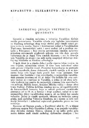 Sarkofag Julija Viktorija Quadrata / Mira Ilijanić