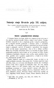 Nutarnje stanje Hrvatske prije XII. stoljeća / F. Rački