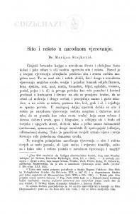 Sito i rešeto u narodnom vjerovanju / M. Stojković