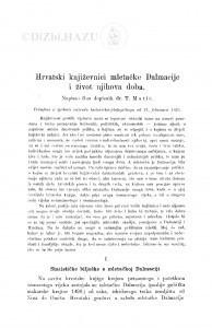 Hrvatski književnici mletačke Dalmacije i život njihova doba / T. Matić