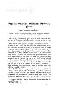Gragja za poznavanje eroikomične Dubrovačke pjesme / L. Zore