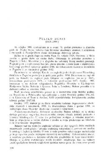 Željko Bujas (1919.-1999.) / Rudolf Filipović