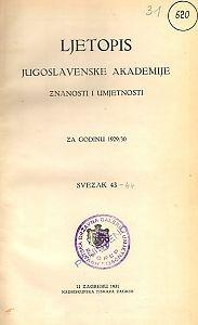 Za godinu 1929/30. Sv. 43