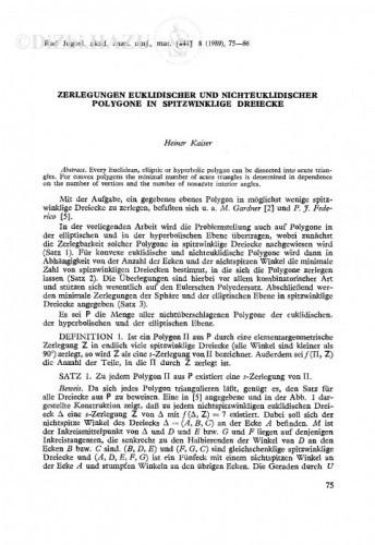 Zerlegungen euklidischer und nichteuklidischer Polygone in Spitzwinklige Dreiecke / H. Kaiser