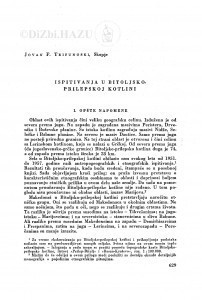 Ispitivanja u Bitoljsko-prilepskoj kotlini / J. F. Trifunoski