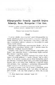 Biljnogeografske formacije zagorskih krajeva Dalmacije, Bosne, Hercegovine i Crne Gore / L. Adamović