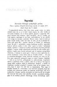 Napredak slovinske filologije pošljednih godina : [književna obznana] / V. Jagić