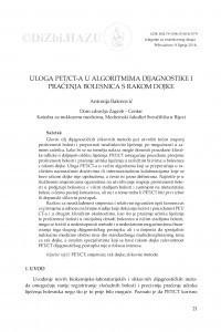 Uloga PET/CT-a u algoritmima dijagnostike i praćenja bolesnica s rakom dojke / Antonija Balenović