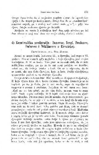 Iz Dubašnice na otoku Krku (Istra) : ženidbeni običaji / I. Milčetić