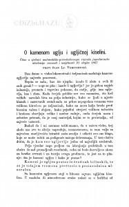 O kamenom uglju i ugljičnoj kiselini / Lj. Vukotinović