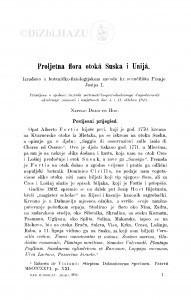 Proljetna flora otokâ Suska, i Unijâ / D. Hirc