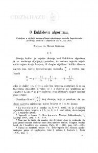 O Euklidovu algoritmu / M. Kiseljak