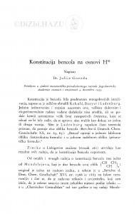 Konstitucija bencola na osnovi Hᶦᶦᶦ / J. Gnezda