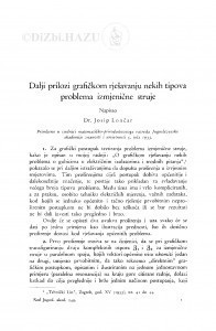 Dalji prilozi grafičkom rješavanju nekih tipova problema izmjenične struje / J. Lončar