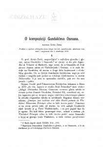 O kompoziciji Gundulićeva Osmana / L. Zore
