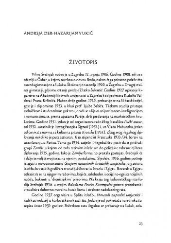 Životopis : [Vilim Svečnjak] / Andreja Der-Hazarijan Vukić