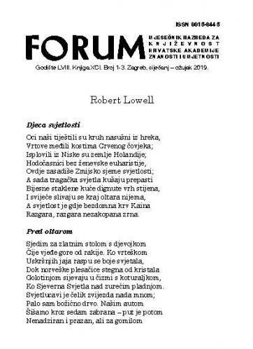 [Pjesme] / Robert Lowell ; preveo s engleskog [i bilješka o piscu] Slobodan Blagojević