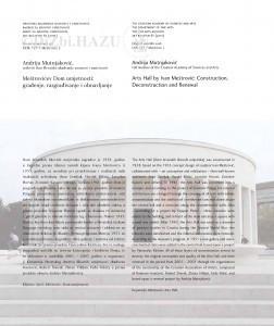 Meštrovićev Dom umjetnosti: građenje, razgrađivanje i obnavljanje = Arts Hall by Ivan Meštrović: construction, deconstruction and renewal / Andrija Mutnjaković