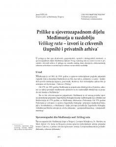 Prilike u sjeverozapadnom dijelu Međimurja u razdoblju Velikog rata - izvori iz crkvenih (župnih) i privatnih arhiva / Jasna Požgan