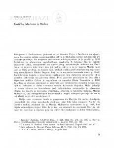 Gotička Madona iz Molva / Anđela Horvat