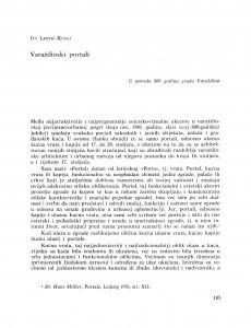 Varaždinski portali / Ivy Lentić-Kugli
