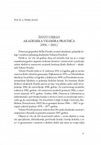 Život i djelo akademika Velimira Pravdića : (1931.-2011.) / Mladen Juračić