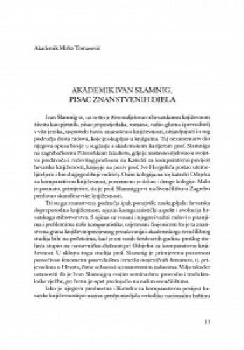 Akademik Ivan Slamnig, pisac znanstvenih djela / Mirko Tomasović
