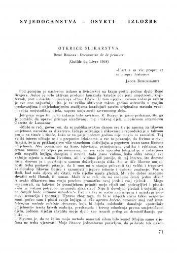 Otkriće slikarstva = René Berger: Decouverte de la peinture (Guilde du Livre 1058) / Lj. B.
